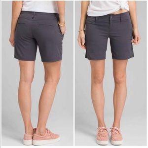 "PRANA Revenna Hiking Shorts Gray 6"" Size 0"